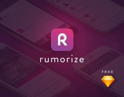 Rumorize - News App UI kit