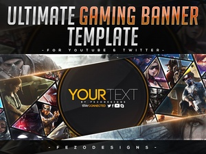 ULTIMATE Gaming Banner Template [YouTube & Twitter]