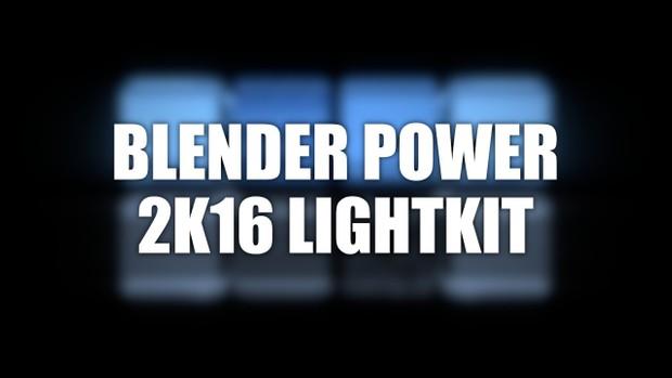 Blender Power 2k16 lightkit