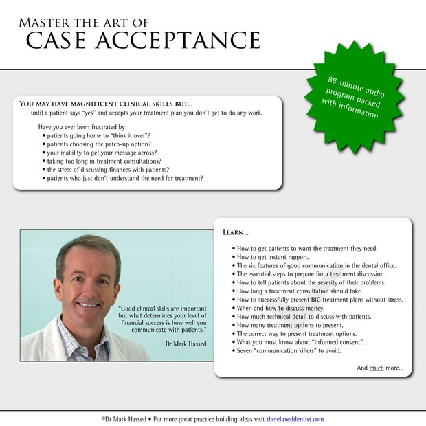 Master the art of case acceptance