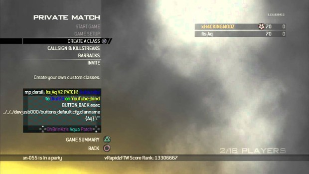Infection CFG Modern Warfare 2