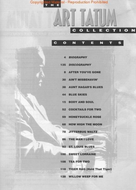 The Art Tatum Collection for Piano Solo