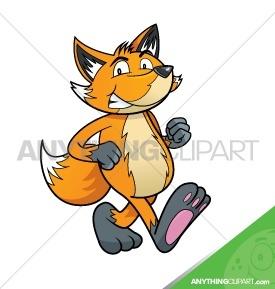 Cartoon Fox Walking- 004