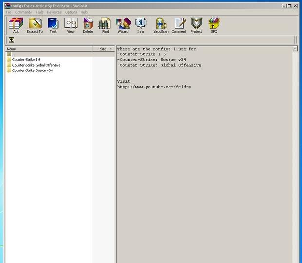 Configs for CS 1.6 CSS v34 and CSGO by feldtz