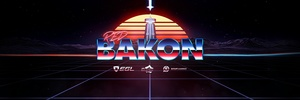 Red Bakon Retro Style Header PSD