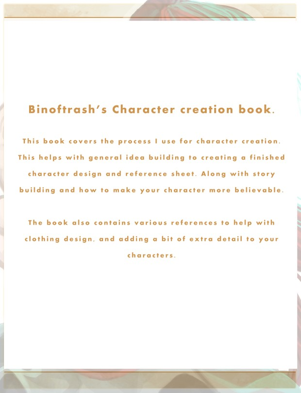 Character Creation Digital Tutorial book