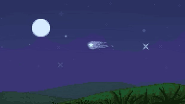 Pixel Animated Star Backdrop