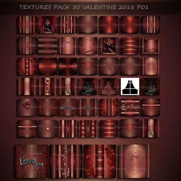 [D] Textures pack50 Valentine2018D01