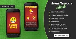 Android joke and quote app template with firebase and admob.