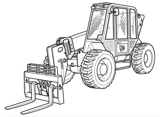 JCB 506C, 506CHL, 508C Loadalls Factory Service & Shop Manual on