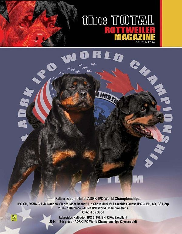 Issue 2 Of 2014 Total Rottweiler Magazine