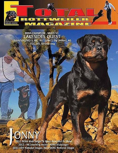 Issue 4 Of 2012 Total Rottweiler Magazine