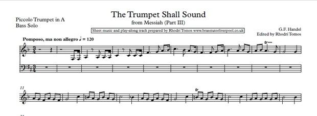 Handel HWV56 Messiah  Music minus trumpet 1 mp3 & Solo Sheet Music (5  Movements)