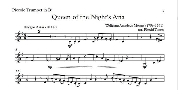 Mozart KV620 Queen Of The Night Aria Accompaniment mp4 video, mp3 & pdf solo sheet music.