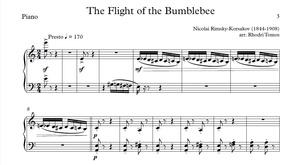 Rimsky-Korsakov Flight Of The Bumblebee sheet music Piano Accompaniment with Mp3 & mp4 play along
