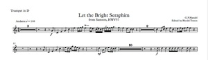 Handel HWV57 Let The Bright Seraphim Trumpet Play-Along Mp3 And Pdf Sheet Music