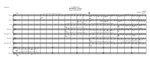 Brass ensemble: Pachelbel Canon- excerpt for a wedding procession.