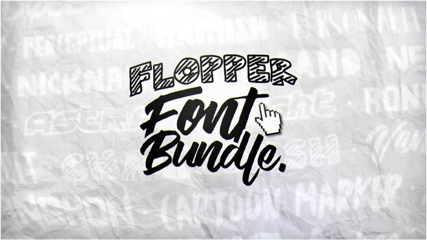 #FlopperExclusiveFontBundle -Flopper