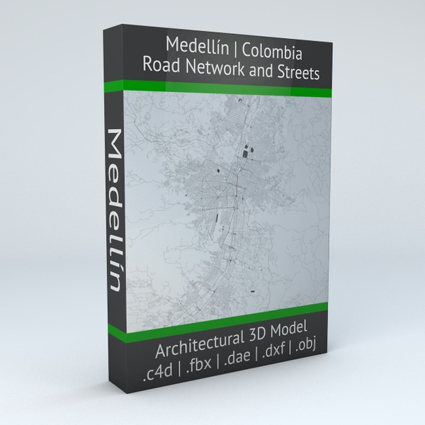Medellin Road Network and Streets Architectural 3D model