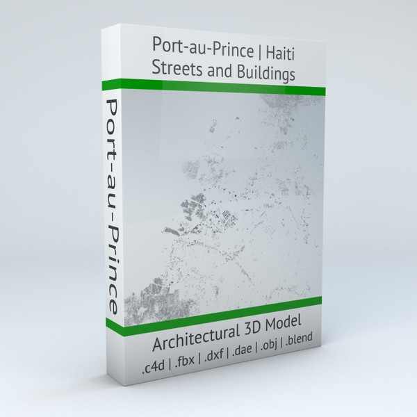Port au Prince Streets and Buildings Architectural 3D Model