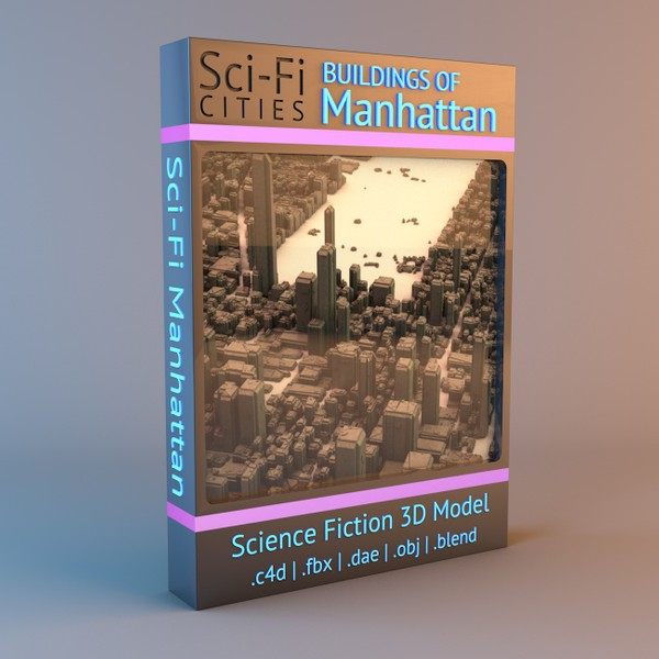 Sci-Fi Manhattan Buildings