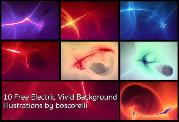 10 Free Electric Vivid Background Illustrations
