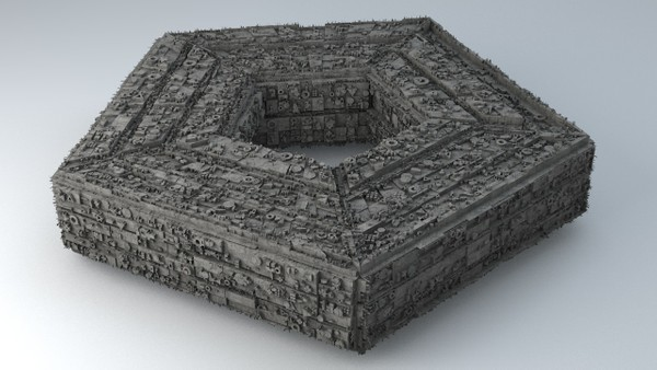 Sci -Fi Shapes - The Pentagon 3D model