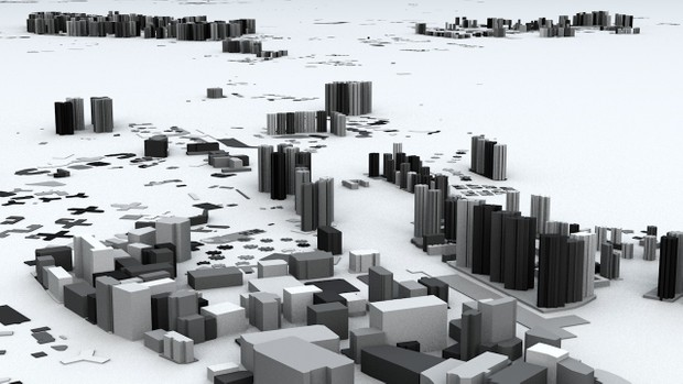 Hong Kong 18 Districts Streets and Buildings Architectural 3D Model