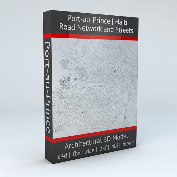 Port au Prince Road Network and Streets Architectural 3D model