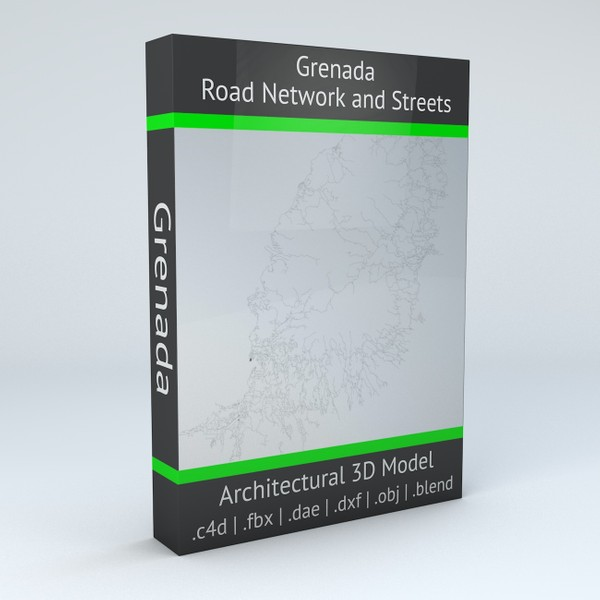 Grenada Road Network and Streets Architectural 3D model