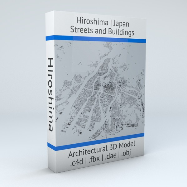 Hiroshima Streets and Buildings Architectural 3D Model