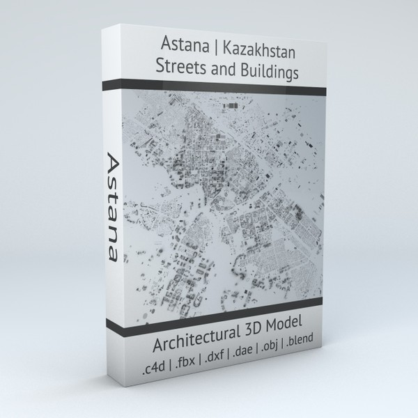 Astana Streets and Buildings Architectural 3D model