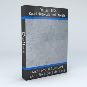 Dallas Road Network and Streets Architectural 3D Model