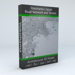 Yokohama Road Network Architectural 3D Model
