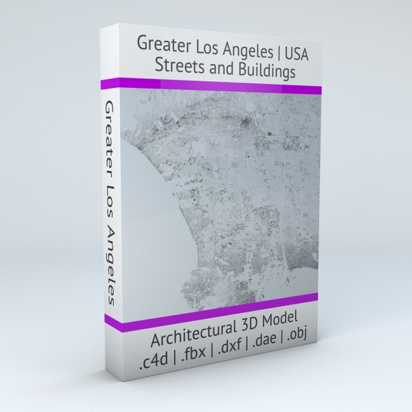 Greater Los Angeles Streets and Buildings Architectural 3D model