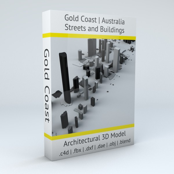 Gold Coast Streets and Buildings Architectural 3D model