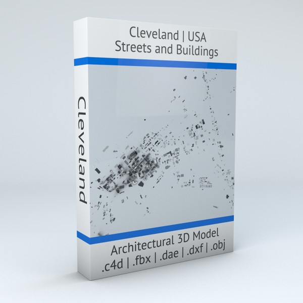 Cleveland Streets and Buildings Architectural 3D model