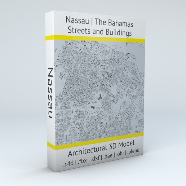 Nassau Streets and Buildings Architectural 3D model