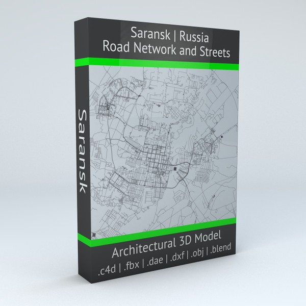 Saransk Road Network and Streets Architectural 3D model