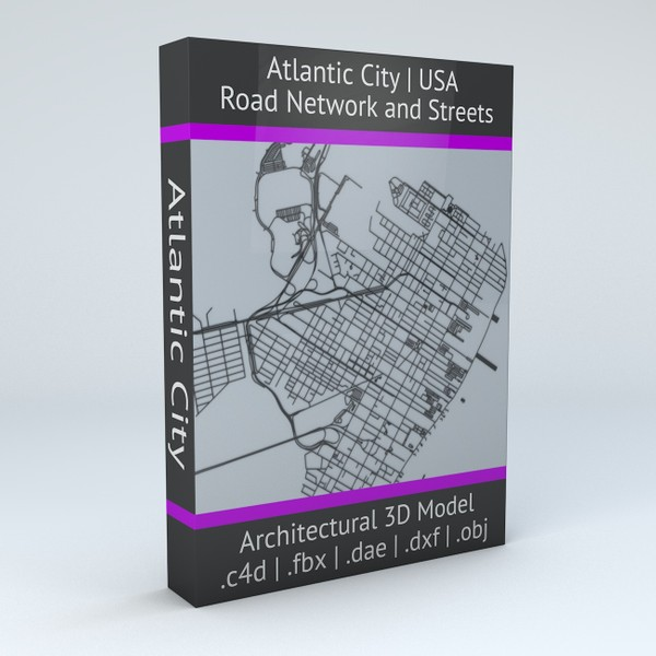 Atlantic City Road Network and Streets Architectural 3D model