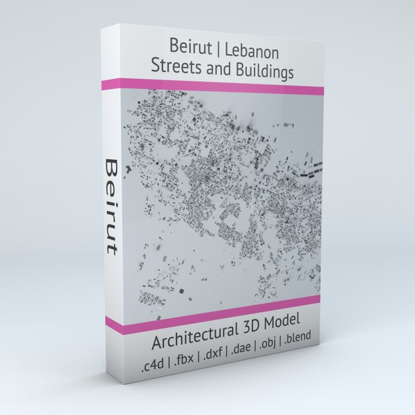 Beirut Streets and Buildings Architectural 3D model