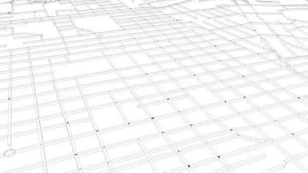 Johannesburg Road Network and Streets 3D model