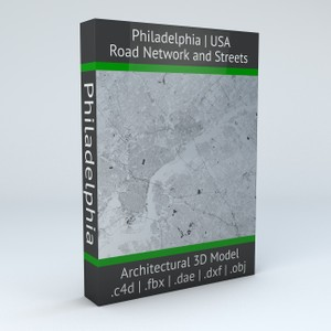 Philadelphia Road Network Architectural 3D Model