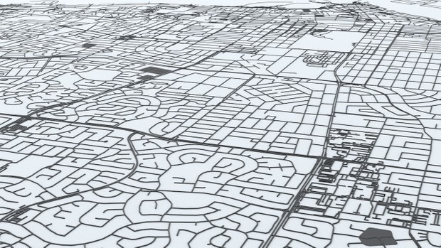 Perth Road Network Architectural 3D Model