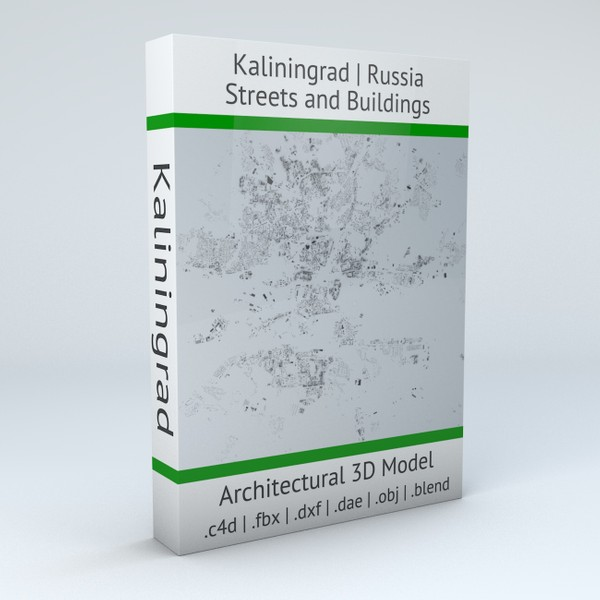 Kaliningrad Streets and Buildings Architectural 3D model