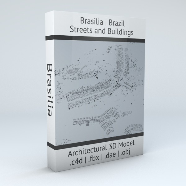 Brasilia Streets and Buildings Architectural 3D Model