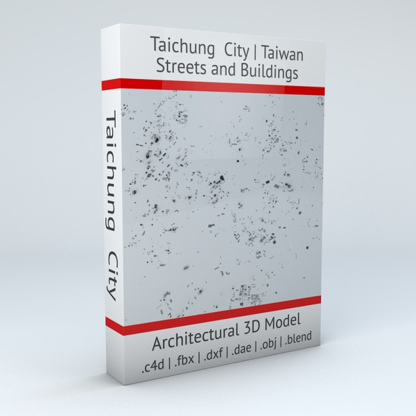 Taichung City Streets and Buildings 3D model