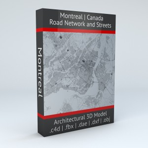 Montreal Road Network and Streets Architectural 3D model