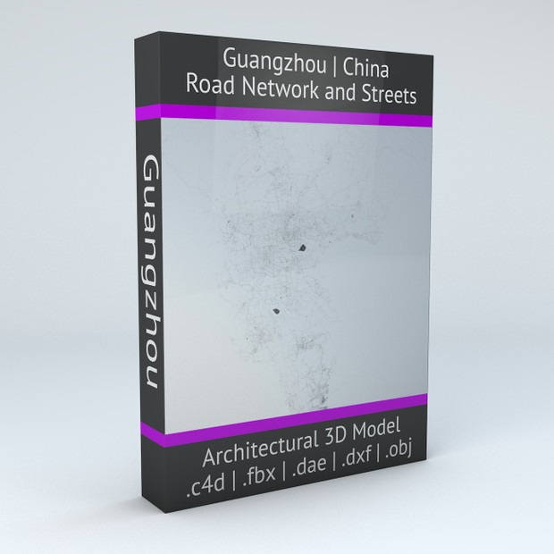 Guangzhou Road Network and Streets Architectural 3D model