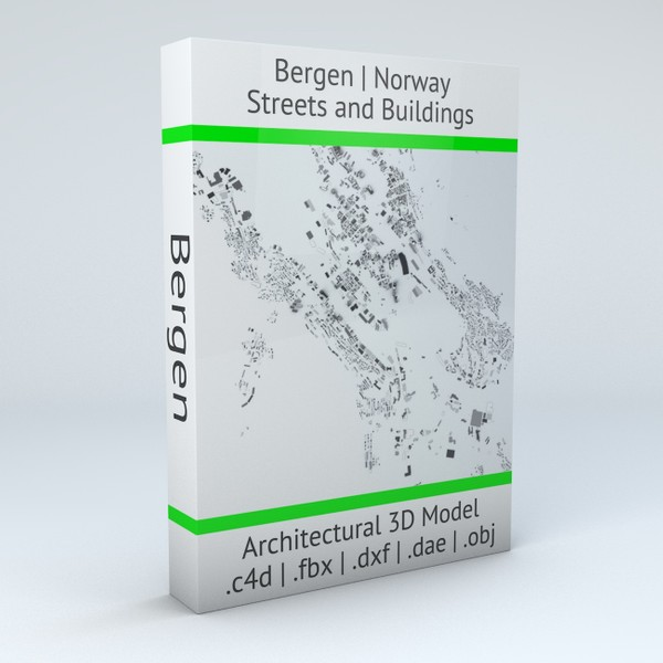 Bergen Streets and Buildings Architectural 3D model
